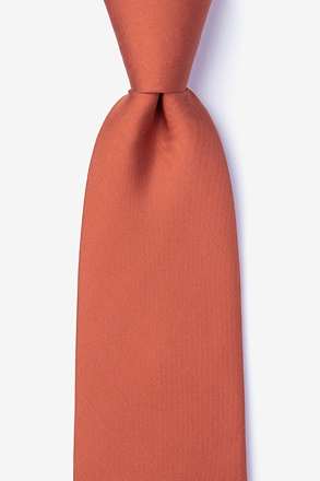 Terra Cotta Extra Long Tie