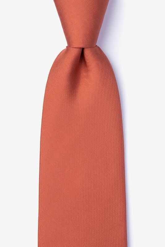 Terra Cotta Extra Long Tie Photo (0)