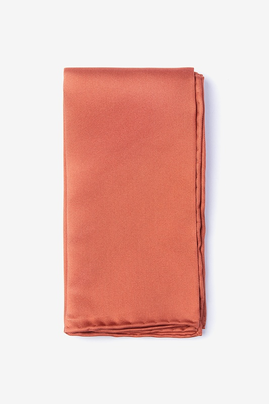 Terra Cotta Pocket Square Photo (0)