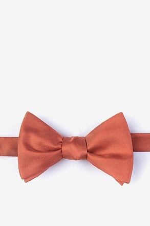 Terra Cotta Self-Tie Bow Tie