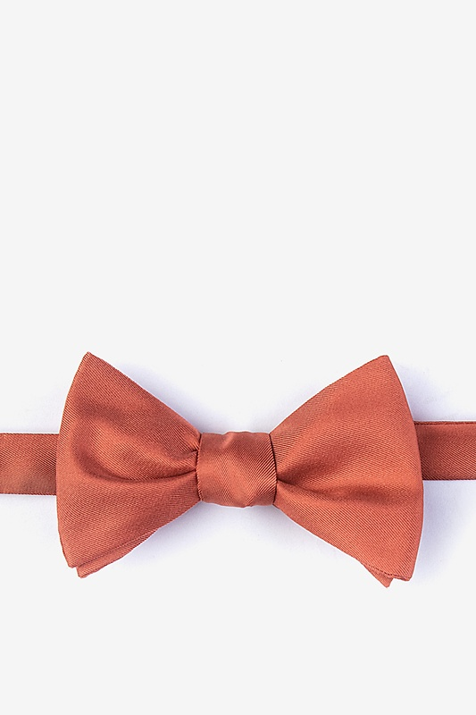 Terra Cotta Self-Tie Bow Tie Photo (0)