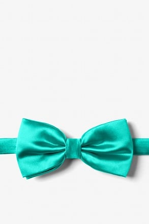 _Tropical Turquoise Pre-Tied Bow Tie_