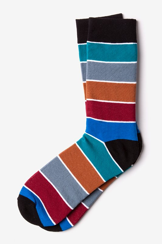 Cypress Stripe Turquoise Sock