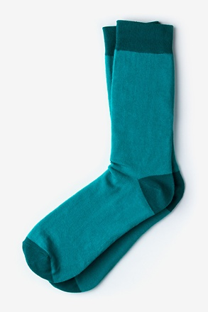 _Hollywood Solid Turquoise Sock_