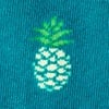 Turquoise Carded Cotton Pineapples Sock