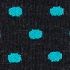 Turquoise Carded Cotton Power Dots Sock