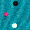 Turquoise Carded Cotton Santa Ana Polka Dot Sock