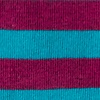 Turquoise Carded Cotton Stanton Stripe Sock