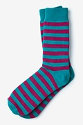 Stanton Stripe Turquoise Sock Photo (0)