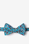 Turquoise Cotton Cedar Hill Self-Tie Bow Tie