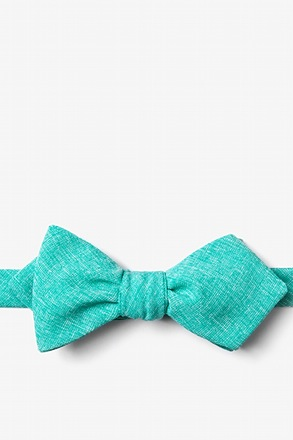 Denver Turquoise Diamond Tip Bow Tie