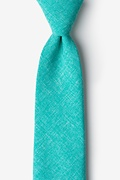 Turquoise Cotton Denver Extra Long Tie