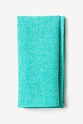 Turquoise Cotton Denver Pocket Square