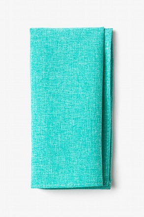 Denver Turquoise Pocket Square