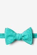 Turquoise Cotton Denver Self-Tie Bow Tie