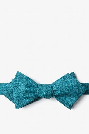 _Galveston Turquoise Diamond Tip Bow Tie_