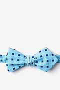 Turquoise Cotton Jamaica Diamond Tip Bow Tie