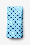 Turquoise Cotton Jamaica Pocket Square
