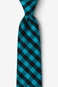 Turquoise Cotton Pasco Extra Long Tie