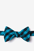 Turquoise Cotton Pasco Self-Tie Bow Tie