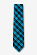 Pasco Turquoise Skinny Tie Photo (1)