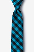 Pasco Turquoise Skinny Tie Photo (0)