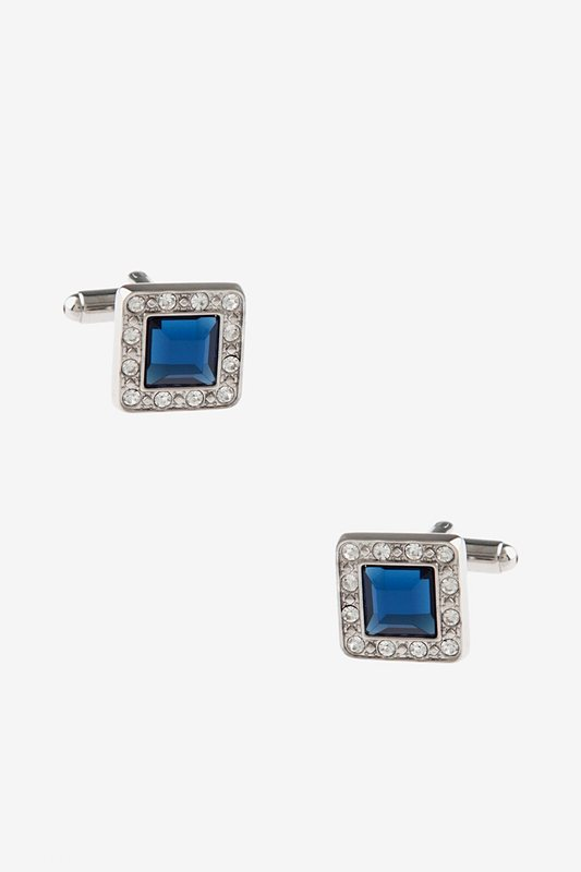 Bejeweled Frame Turquoise Cufflinks Photo (0)