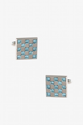 Bejeweled Square Turquoise Cufflinks