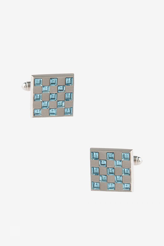 Bejeweled Square Turquoise Cufflinks Photo (0)