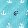 Turquoise Microfiber Anchors & Ships Wheels Tie