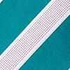 Turquoise Microfiber Jefferson Stripe Self-Tie Bow Tie