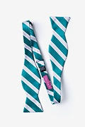 Jefferson Stripe Turquoise Self-Tie Bow Tie Photo (1)