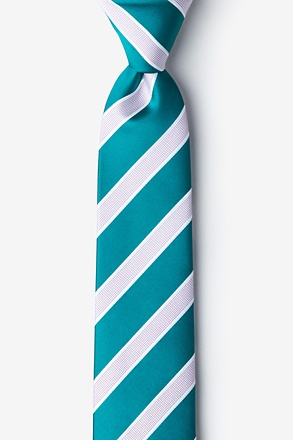 Jefferson Stripe Turquoise Tie For Boys