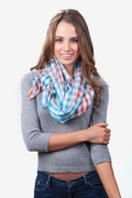 Party Check Turquoise Scarf by Scarves.com