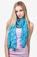 Turquoise Polyester Starfish Scarf