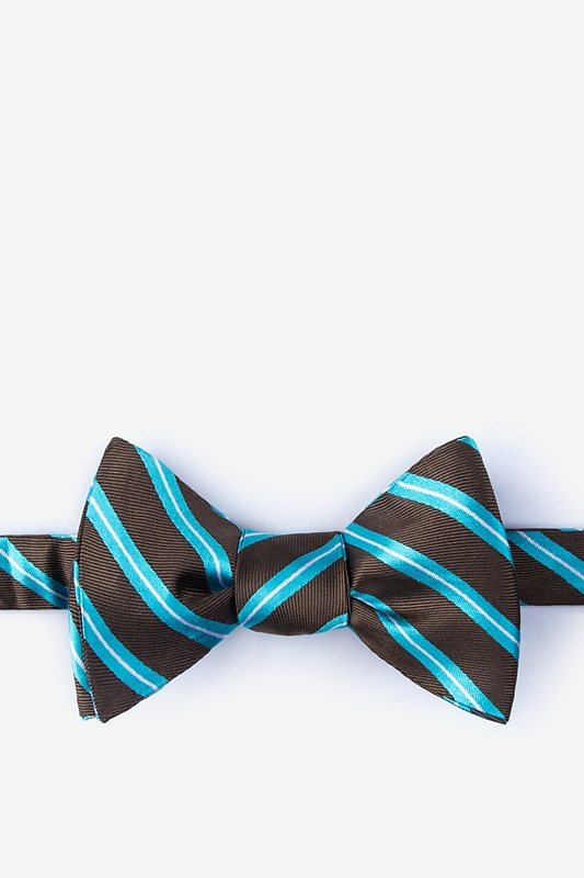 91ae92fbe87b Turquoise Silk Barrow Self-Tie Bow Tie | Ties.com