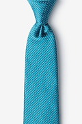 Buton Turquoise Extra Long Tie Photo (0)