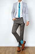 Buton Turquoise Skinny Tie Photo (2)