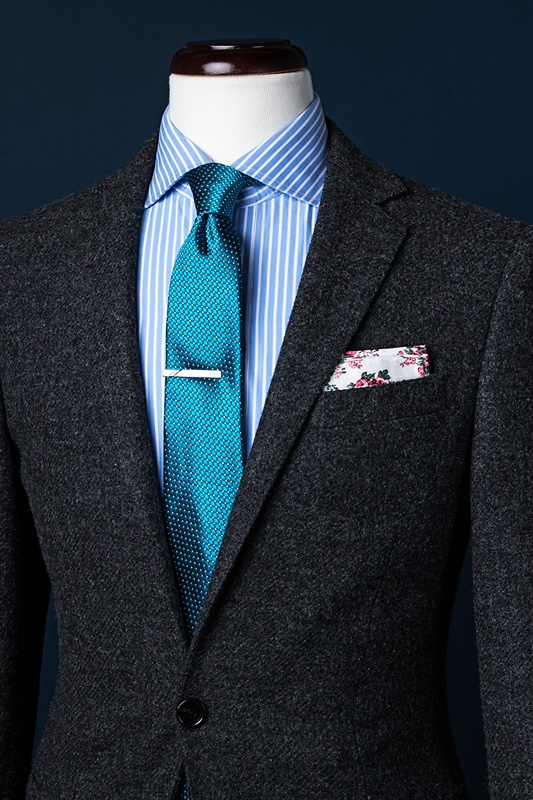 Buton Turquoise Skinny Tie Photo (3)