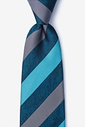 Dee Turquoise Extra Long Tie Photo (0)