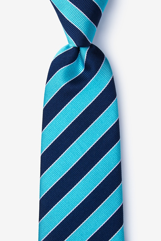 Fane Turquoise Extra Long Tie Photo (0)