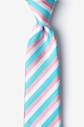 Turquoise Silk Great Abaco Extra Long Tie