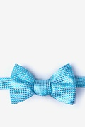 Turquoise Silk Groote Bow Tie