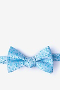 Turquoise Silk Harrington Self-Tie Bow Tie