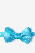 Turquoise Silk Richards Self-Tie Bow Tie