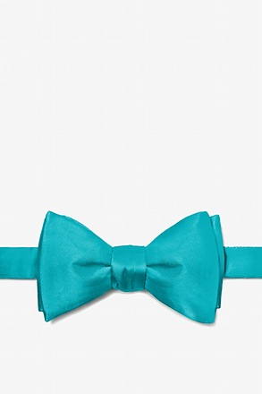 Turquoise Butterfly Bow Tie