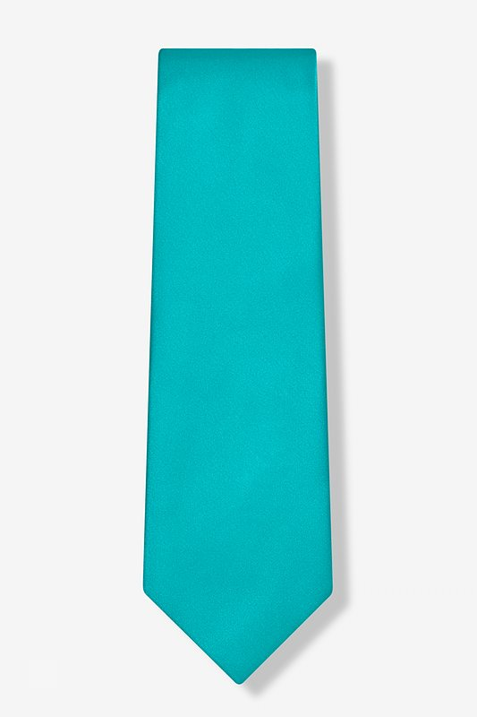 Turquoise Extra Long Tie Photo (1)