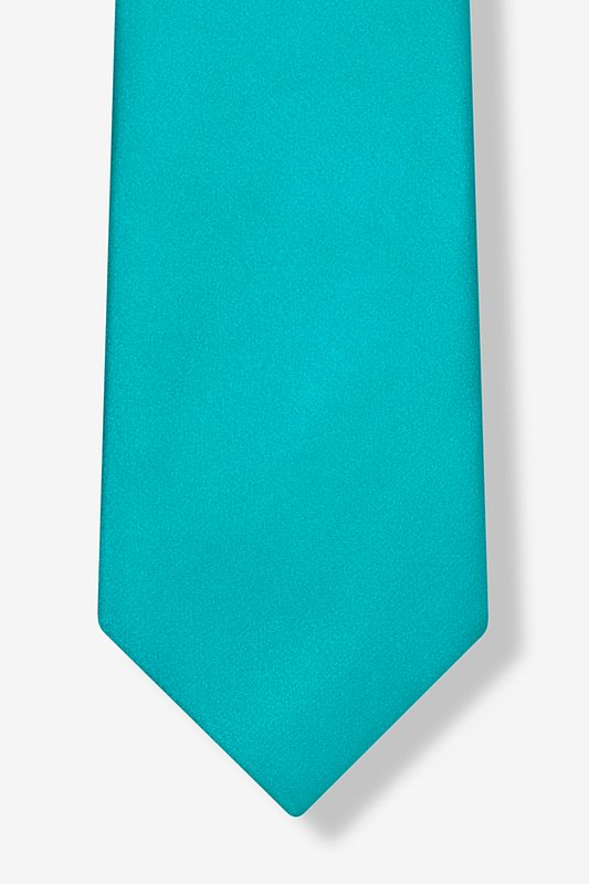 Turquoise Extra Long Tie Photo (3)
