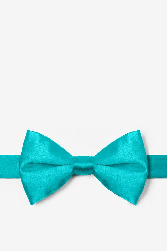 Turquoise Pre-Tied Bow Tie Photo (0)