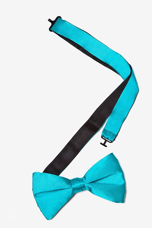 Turquoise Pre-Tied Bow Tie Photo (1)